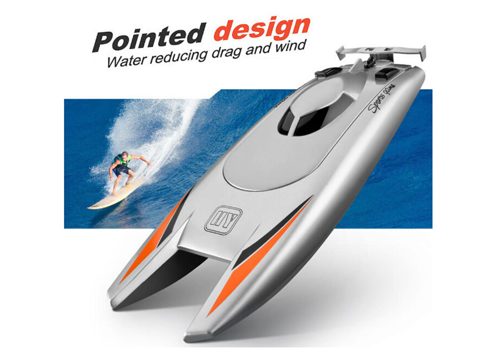 Upgraded Version 2.4G Remote Control Boat Speed Boat Yacht Race Boat Toys for Children - Silver