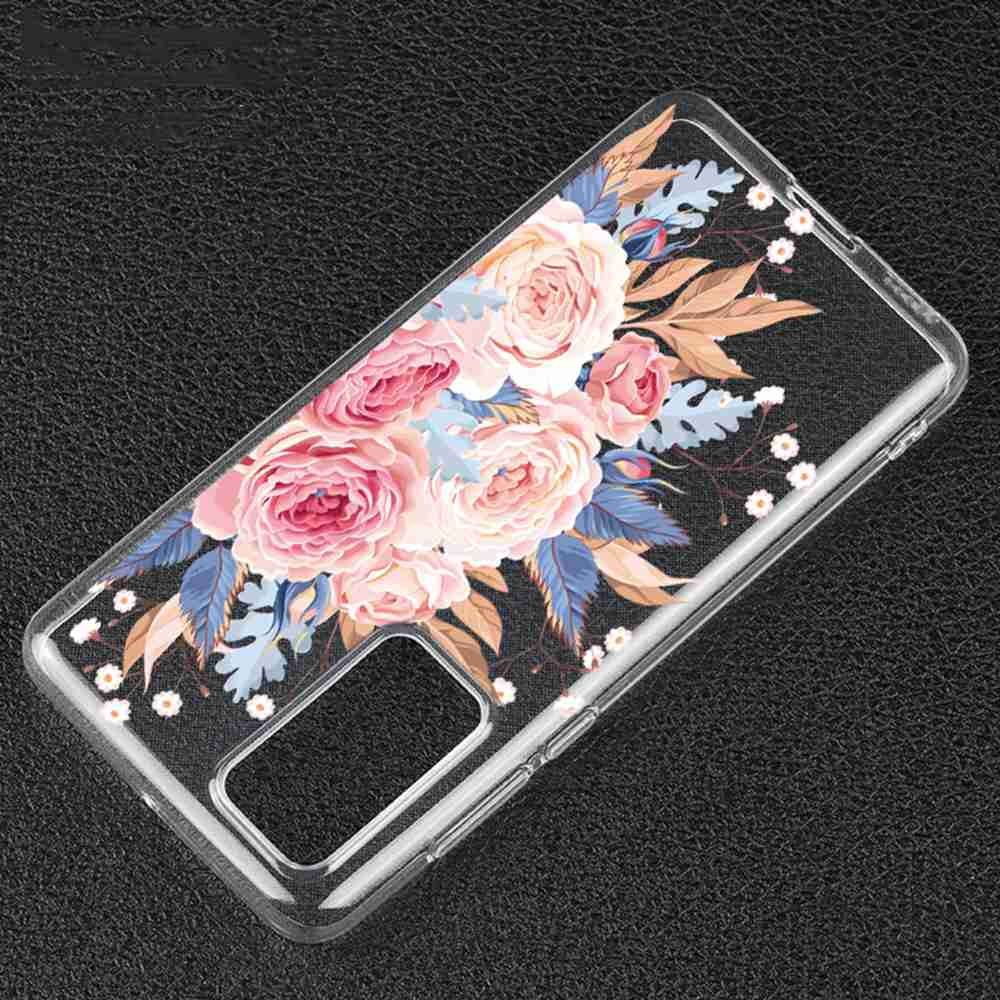 TPU Hollow Flower Painting Phone Case for Huawei P40 - Multi-G