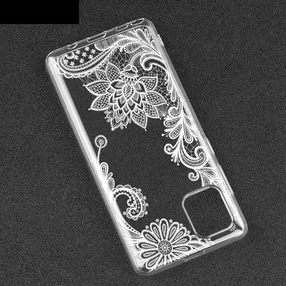 TPU Hollow Flower Painting Phone Case for Samsung Galaxy A81/Note10 Lite /M60s - Multi-D