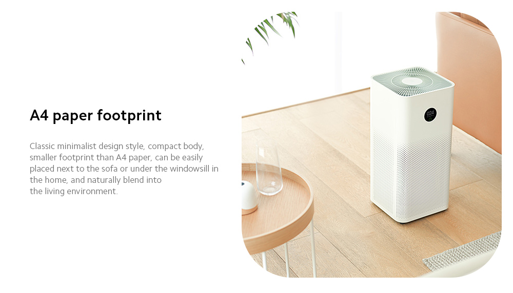 Xiaomi Mijia AC-M6-SC Air Purifier 3 A4 paper footprint