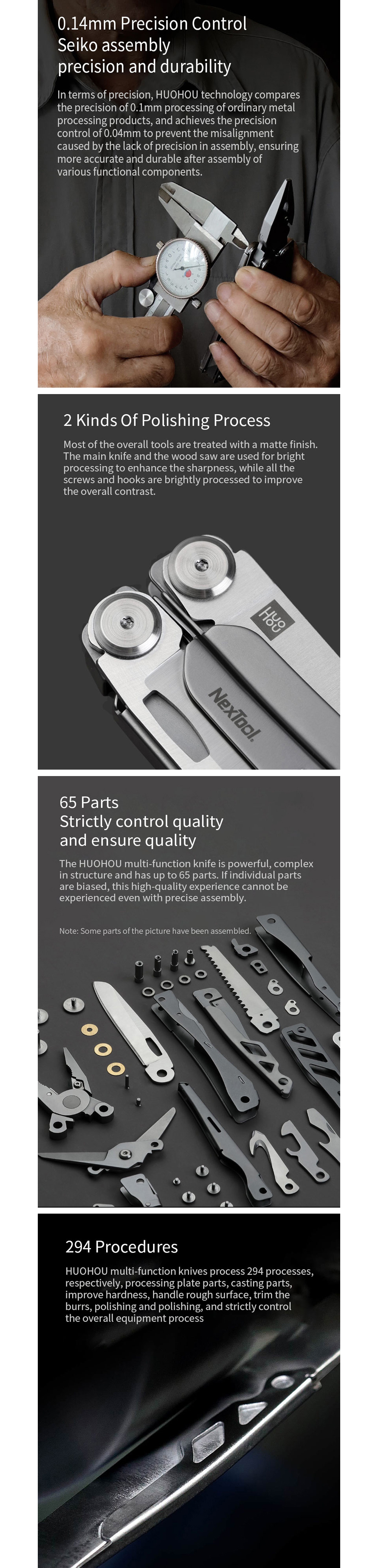 Lightweight Portable Folding Utility Knife Tools, Outdoor Multi-function Universal Repair Kit (Xiaomi Youpin Products) - Silver