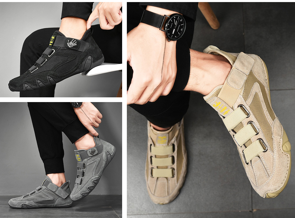 Men Round Toe Leather Shoes show