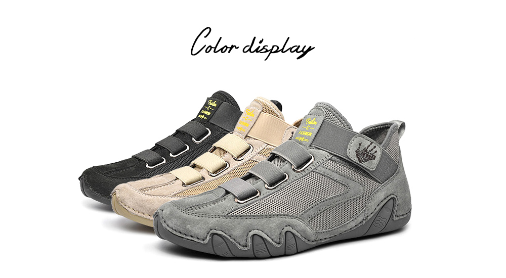 Men Round Toe Leather Shoes color display