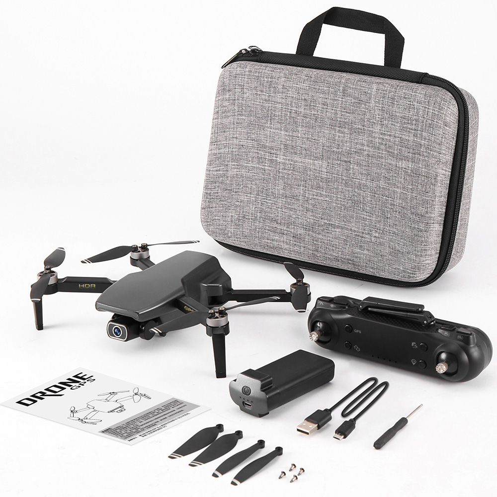 SG108 5G WIFI FPV GPS Brushless Foldable RC Drone Quadcopter - Black One Battery