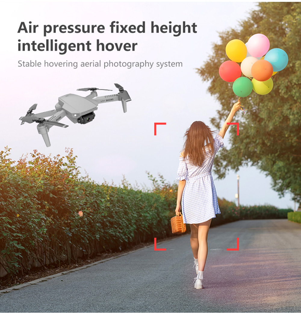 E88 RC Drone Toy - Gray 702p one battery