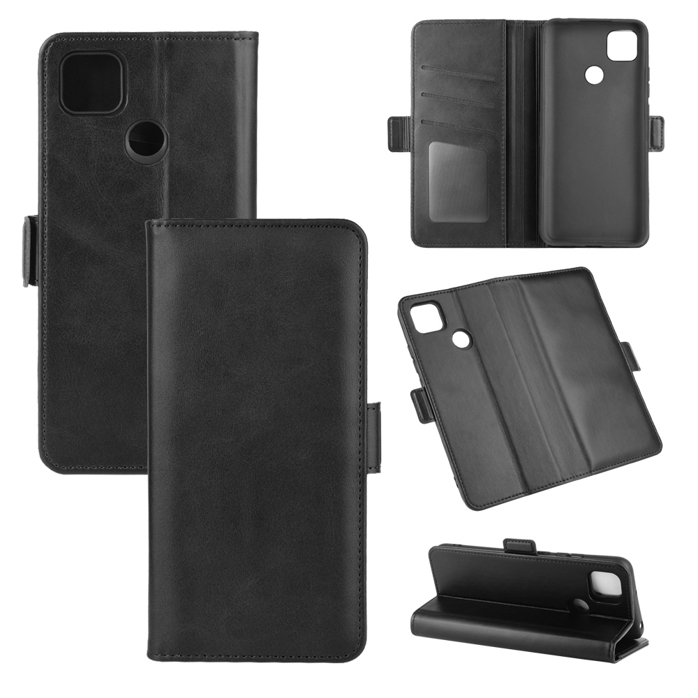 CHUMDIY PU Leather Flip Magnetic Wallet Phone Case for Xiaomi Redmi 9C - Black