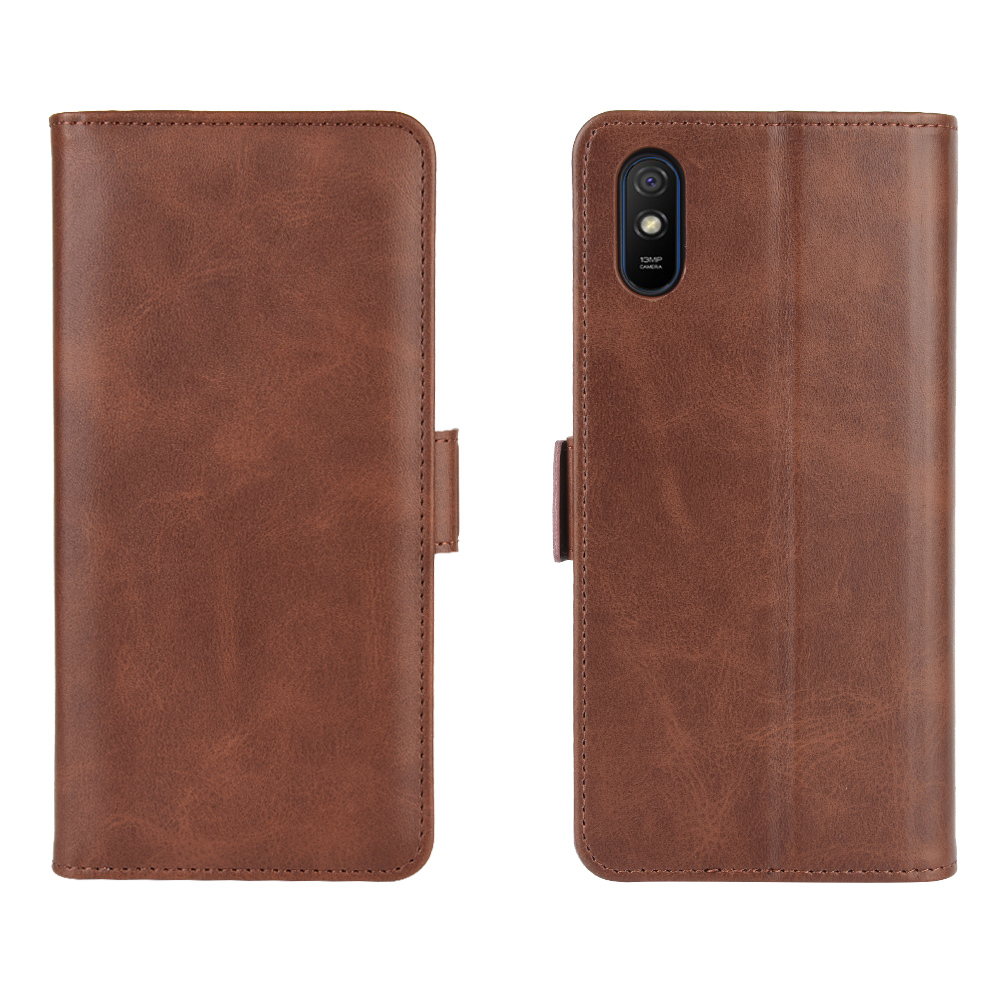 CHUMDIY PU Leather Flip Magnetic Wallet Phone Case for Xiaomi Redmi 9A - Lava Red
