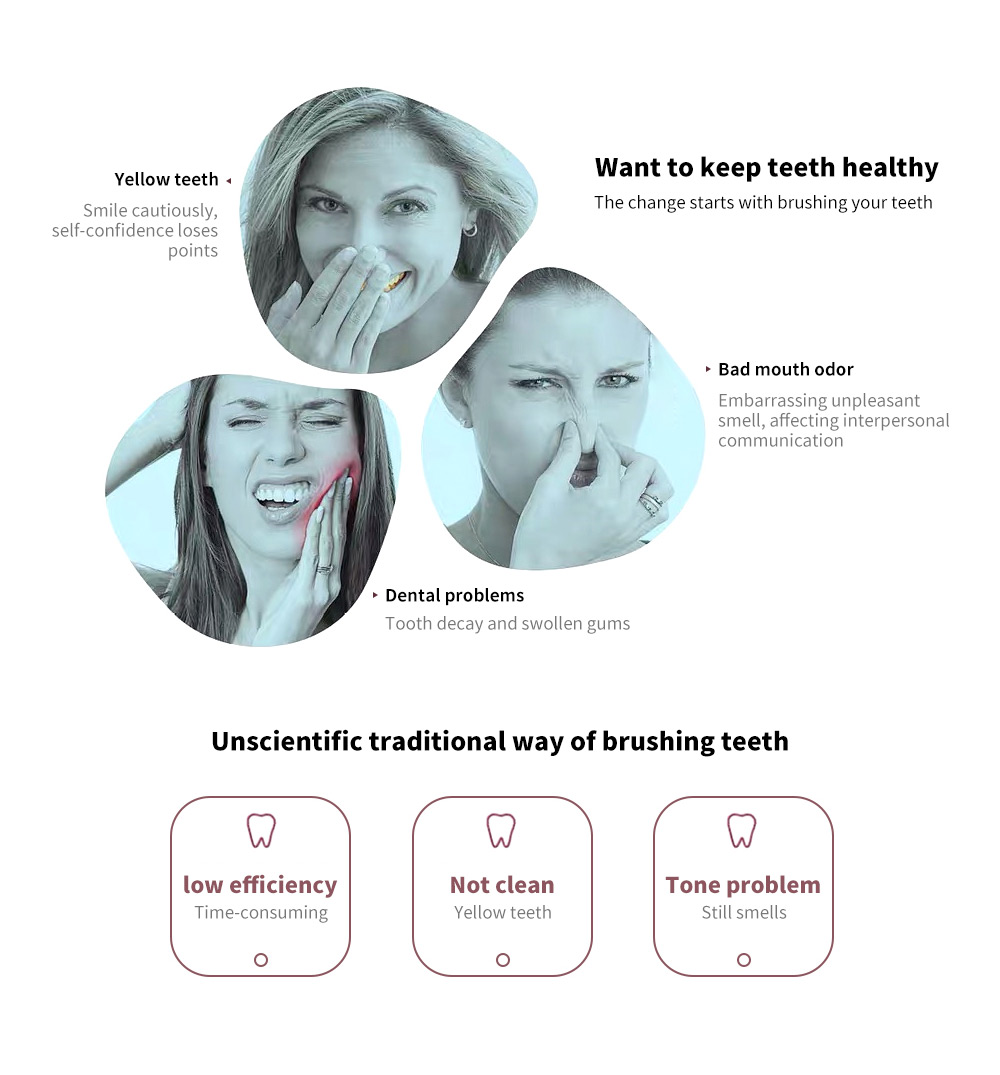 T8 Smart Ultrasonic Electric Toothbrush problems