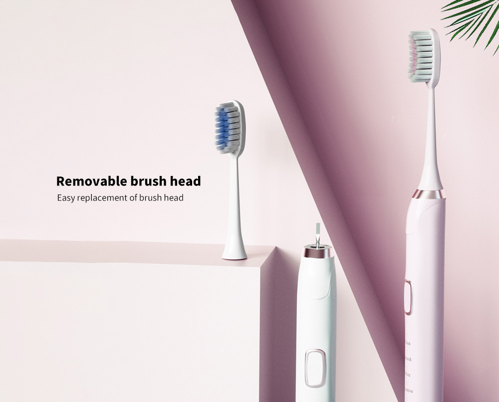 T8 Smart Ultrasonic Electric Toothbrush Removable brush head