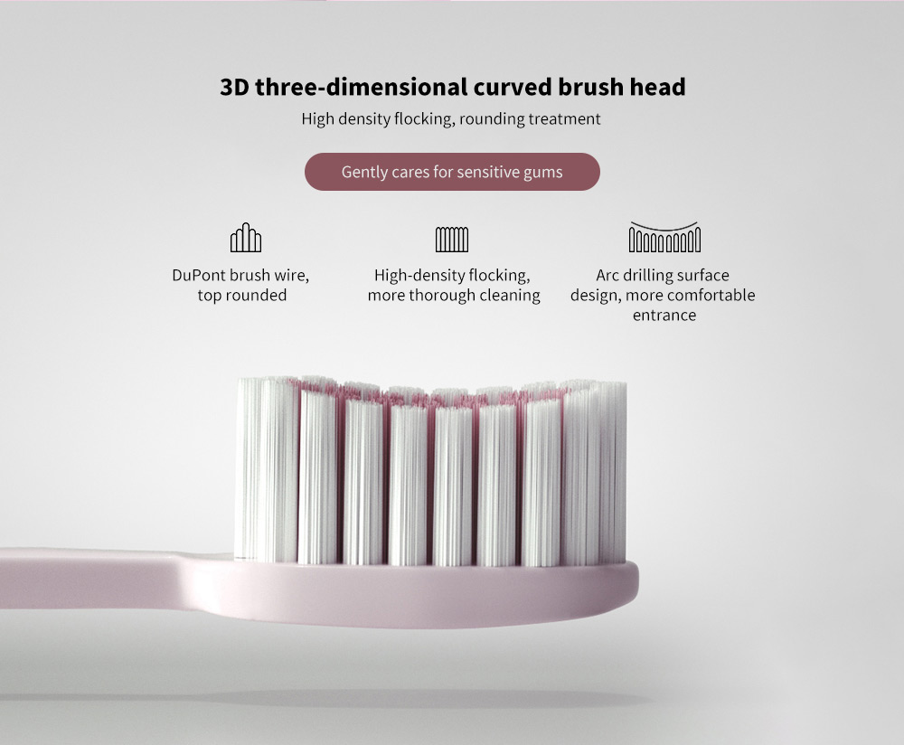 T8 Smart Ultrasonic Electric Toothbrush 3D three-dimensional curved brush head