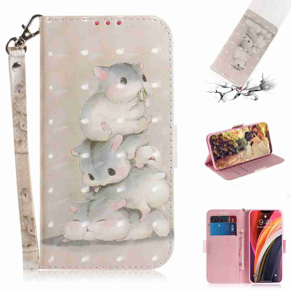 Multi-Pattern 3D Painted Phone Case for iPhone 12 6.7 Inch - Multi-B