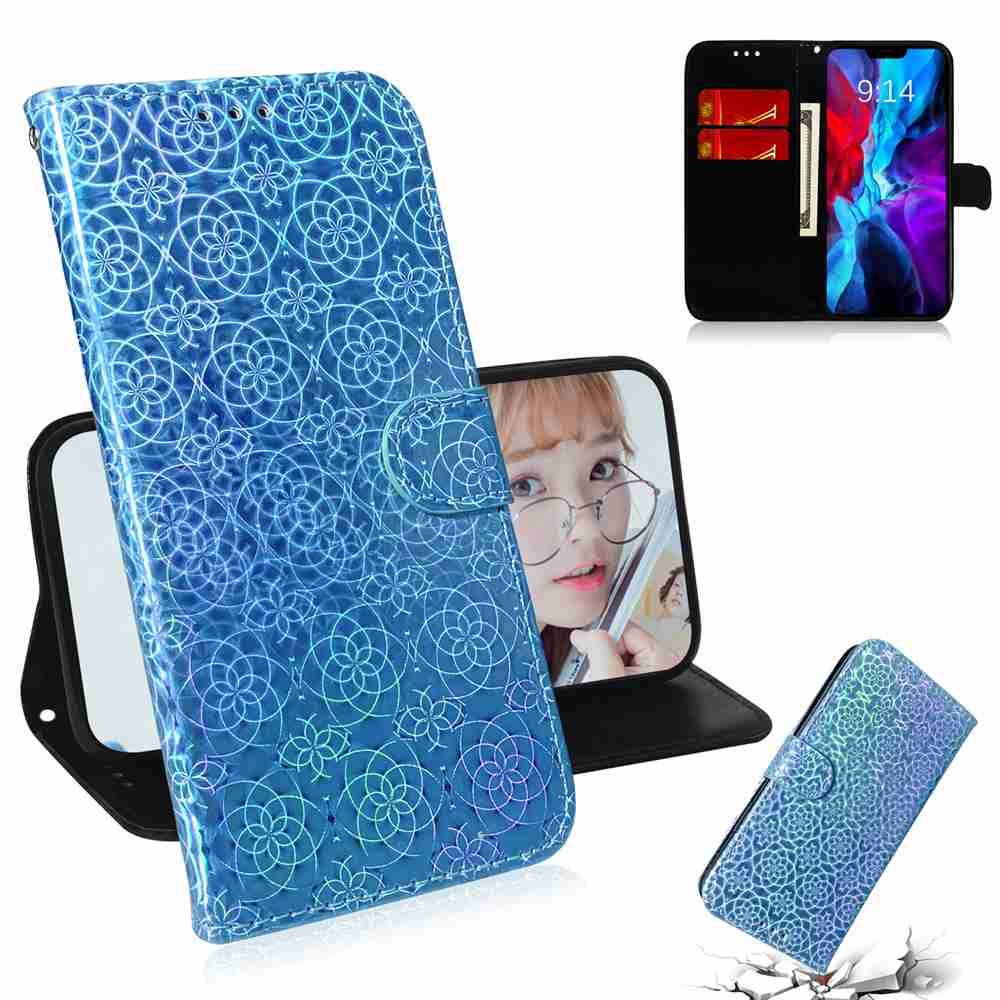 Solid Color Dazzling Phone Case for iPhone 12   6.1 Inch - Dodger Blue