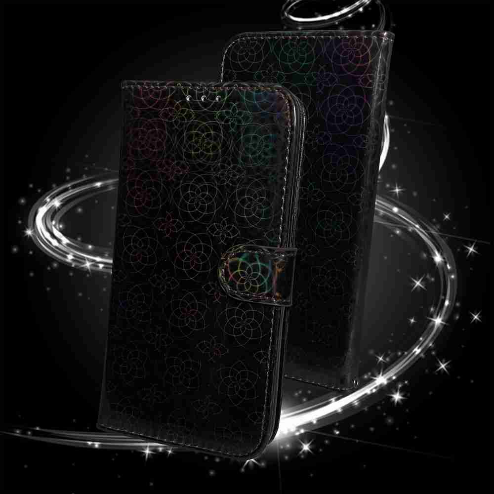 Solid Color Dazzling Phone Case for iPhone 12   5.4  Inch - Gray