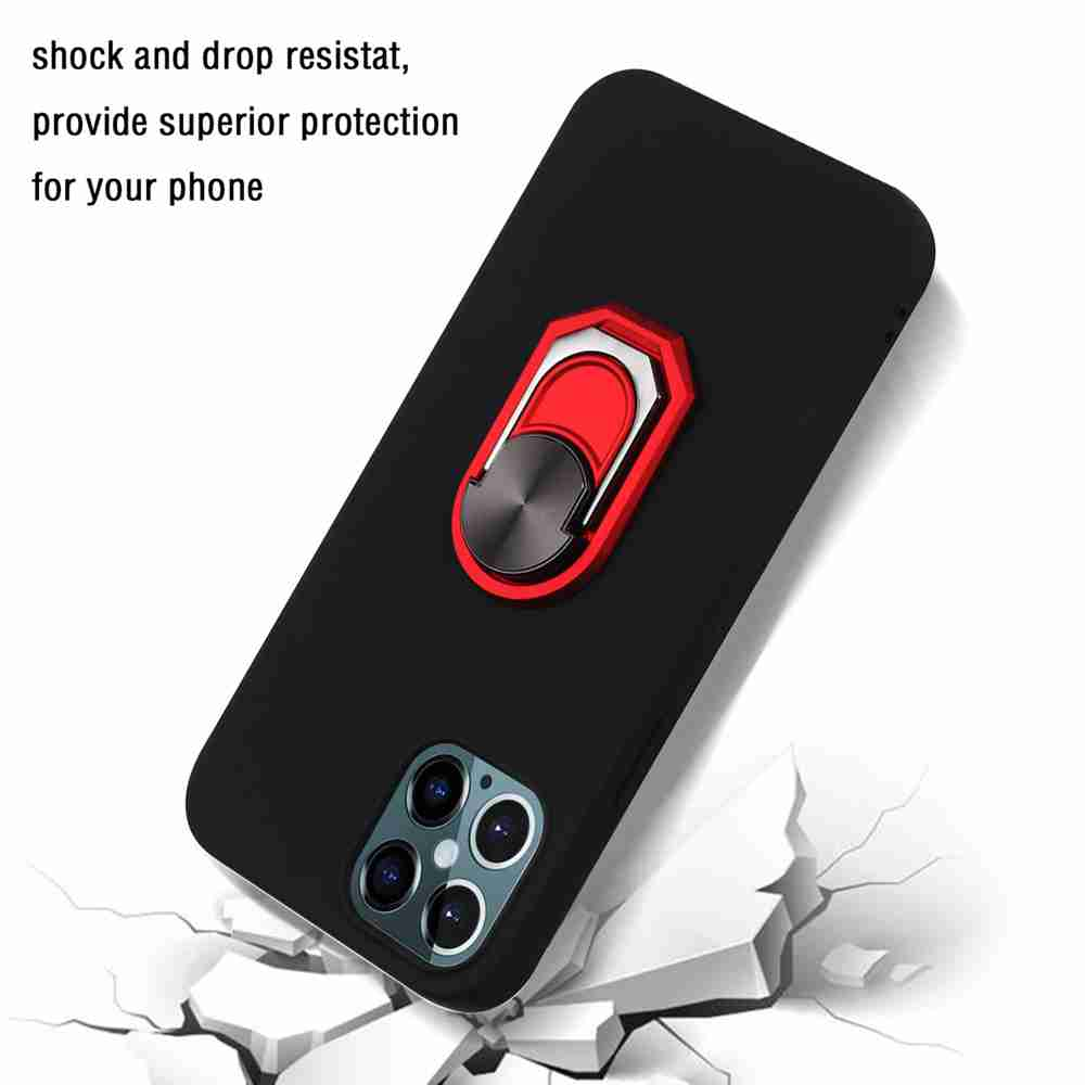 TPU Super Thick Armor Bracket Phone Case for iPhone 12 6.7 Inch - Multi-B