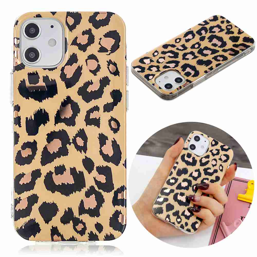 Electroplated Marble Process Phone Case for iPhone 12  5.4 Inch - Multi-A