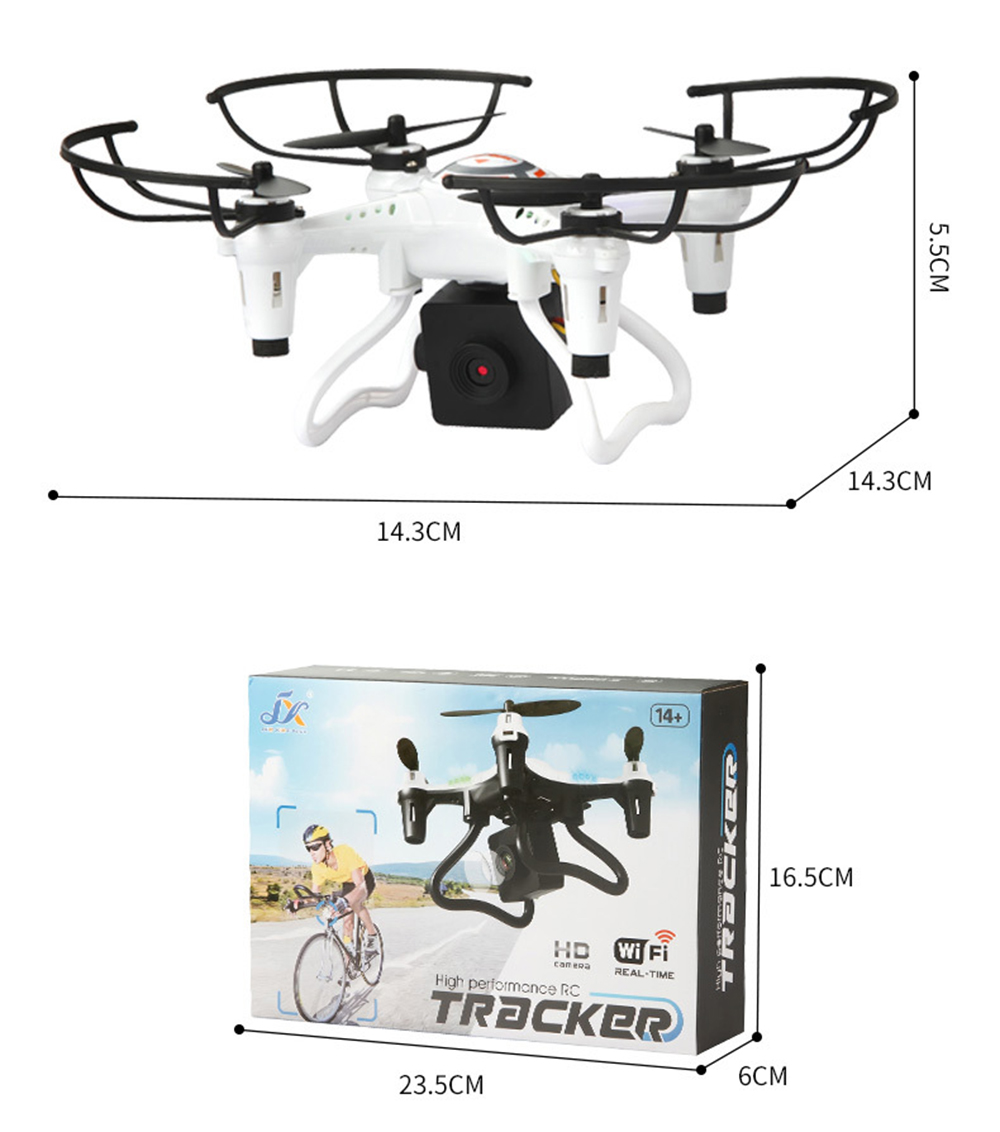 2.4GHz 4-Channel RC Quadcopter Wireless Remote Control Helicopter Children Drone Toy - White 300,000 pixels