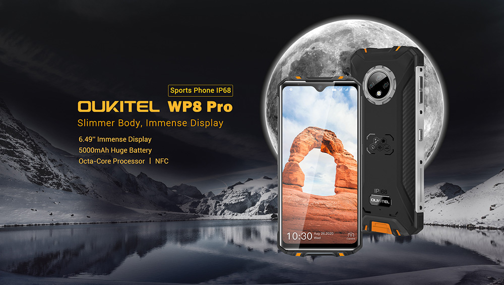 OUKITEL WP8 Pro NFC IP68 Rugged 4G Rugged Smartphone 6.49 inch Global Version - Orange