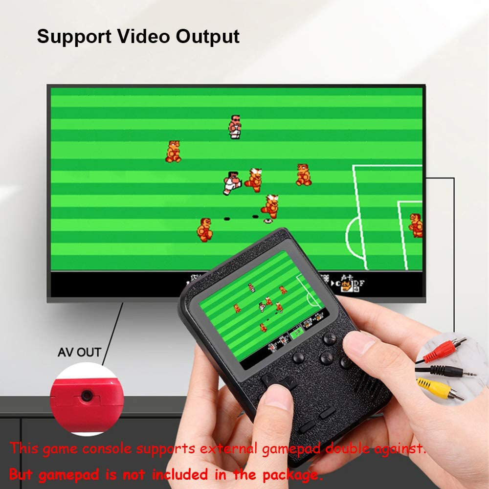Mini Portable Handheld Games Console with 400 Classic Game - Red