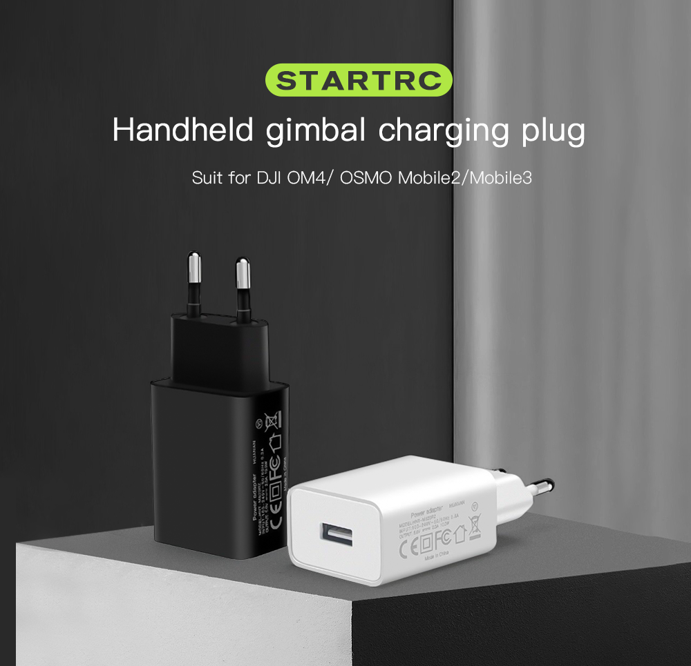STARTRC Gimbal Fast Charger Charging Head for DJI OM4 / Mobile3 - White EU Plug