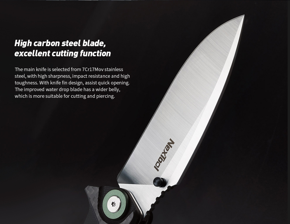 NEXTOOL Multi-function Folding Knife High carbon steel blade, excellent cutting function