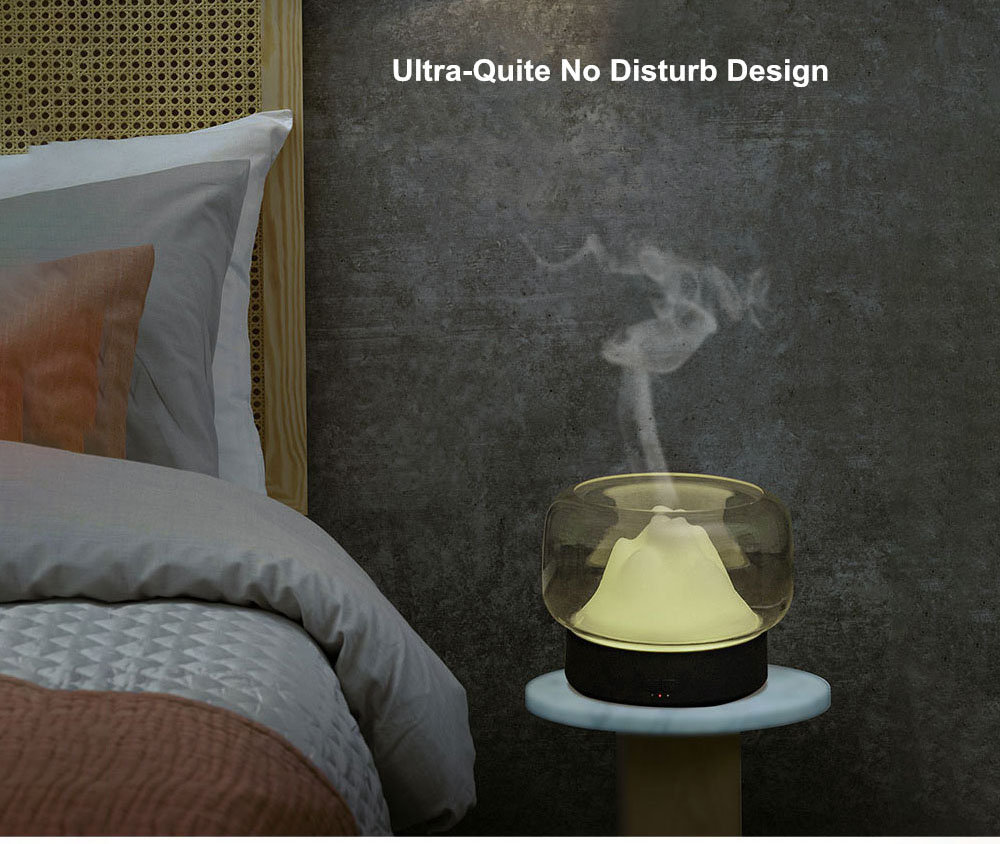 CYZ-Z1 Simple Home Aromatherapy Humidifier Aroma Diffuser Large Capacity 400ML with Rainbow and Warm Night Light - Black
