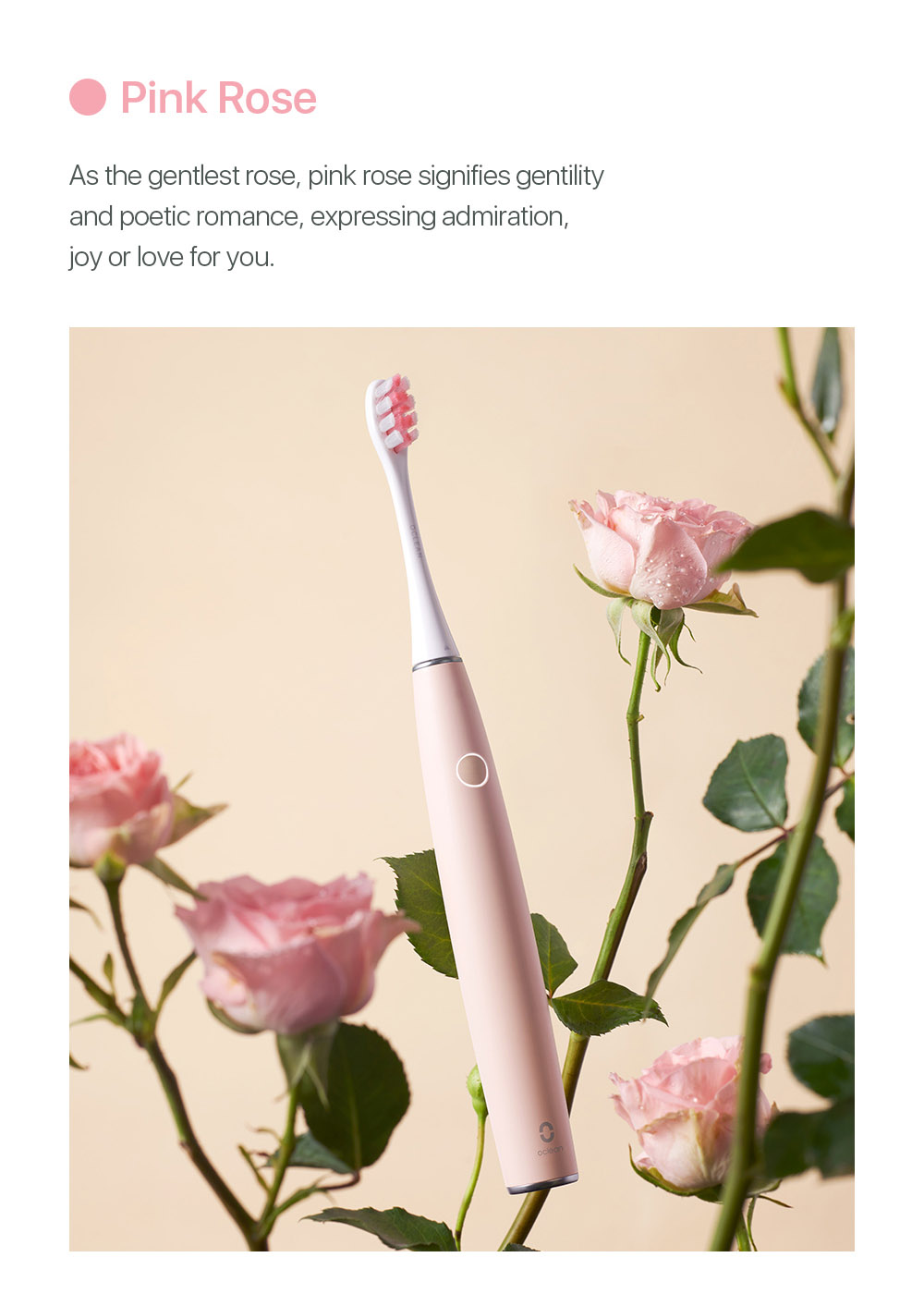 Ocean Air 2 Smart Sonic Electric Toothbrush - Pink