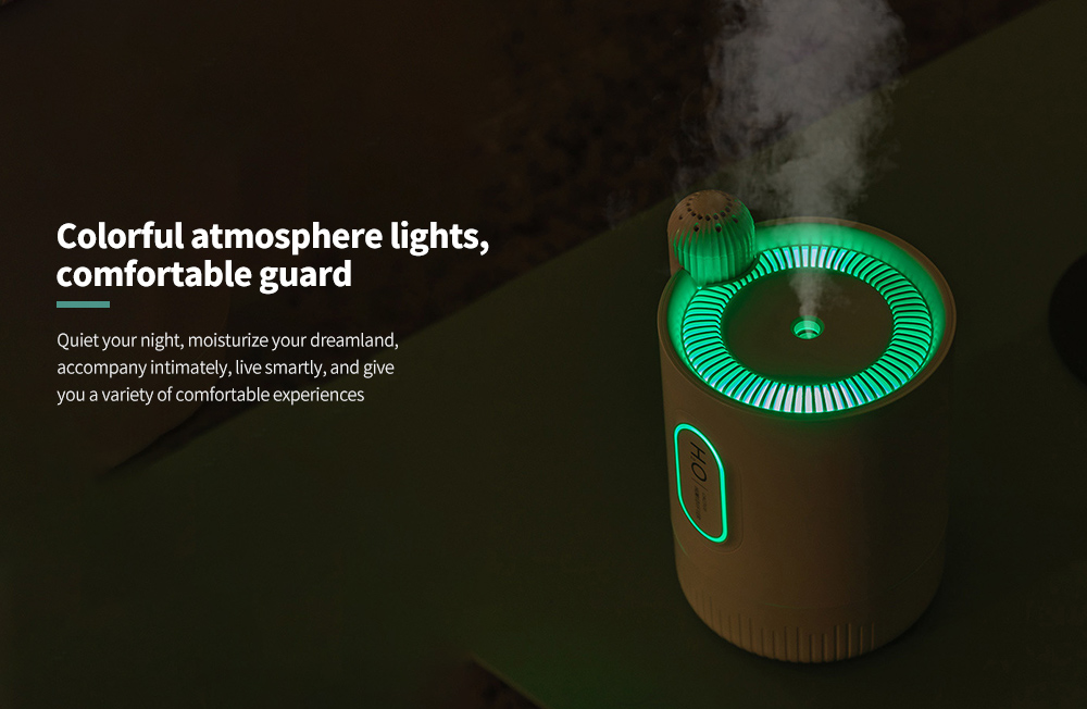 RPH-H828 Cactus Shaped Home Mini USB Aromatherapy Humidifier Colorful atmosphere lights, comfortable guard