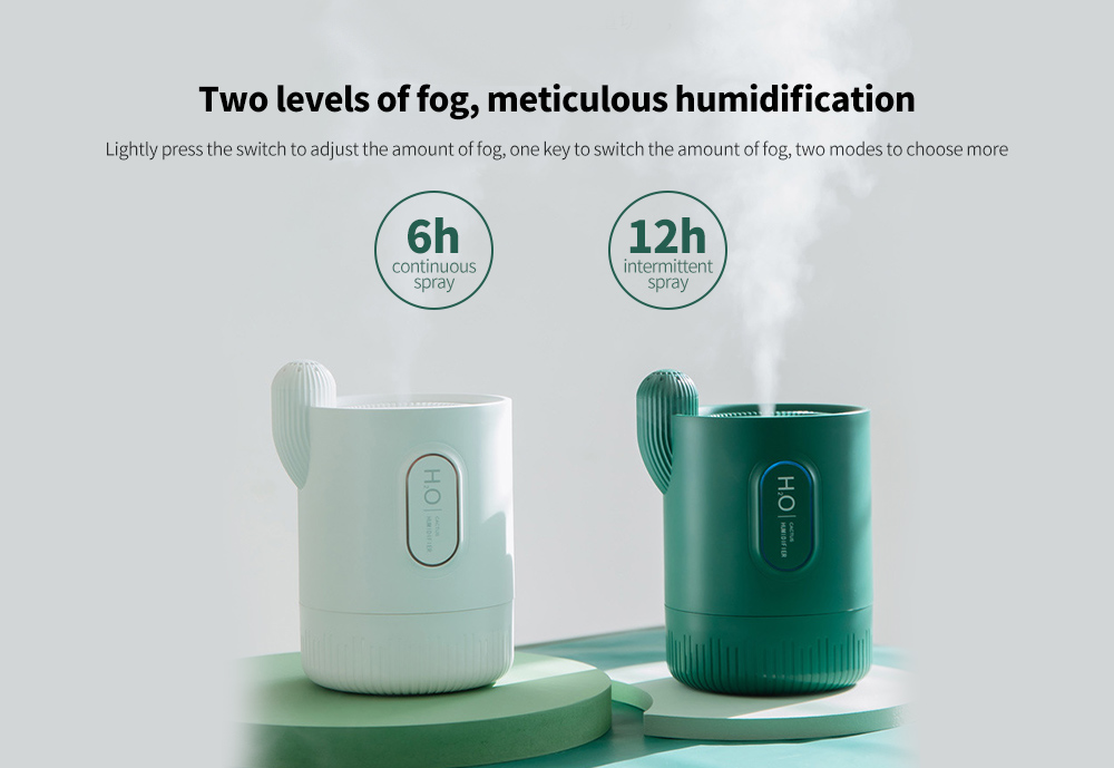 RPH-H828 Cactus Shaped Home Mini USB Aromatherapy Humidifier Two levels of fog, meticulous humidification
