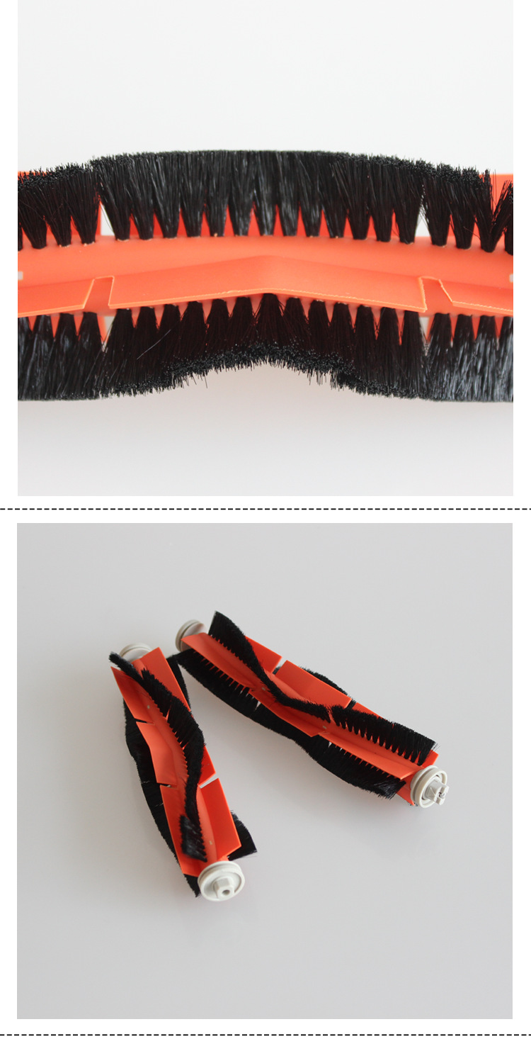 0665 Sweeper Accessories Set Main Rolling Mopping Pad Filter Side Brush Cleaning Brush for Xiaomi 1C - Multi