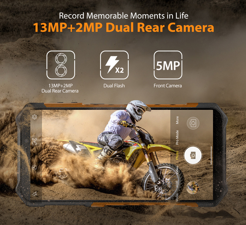 Ulefone Armor X5 Pro Rugged Waterproof Smartphone NFC 4G LTE Mobile Phone Global Version - Black