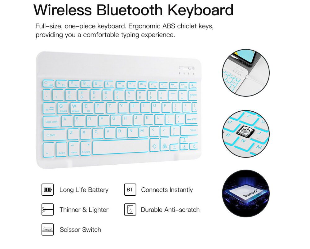 Tablet Keyboard Case for iPad Pro 2020 11 inch - Lapis Blue Normal Keyboard