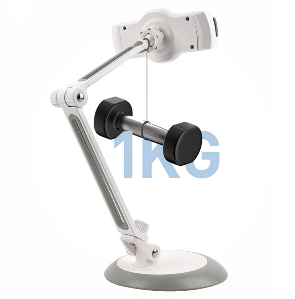 Portable Folding Bracket Stand for iPad Tablet and Phone 4-10 inches - White