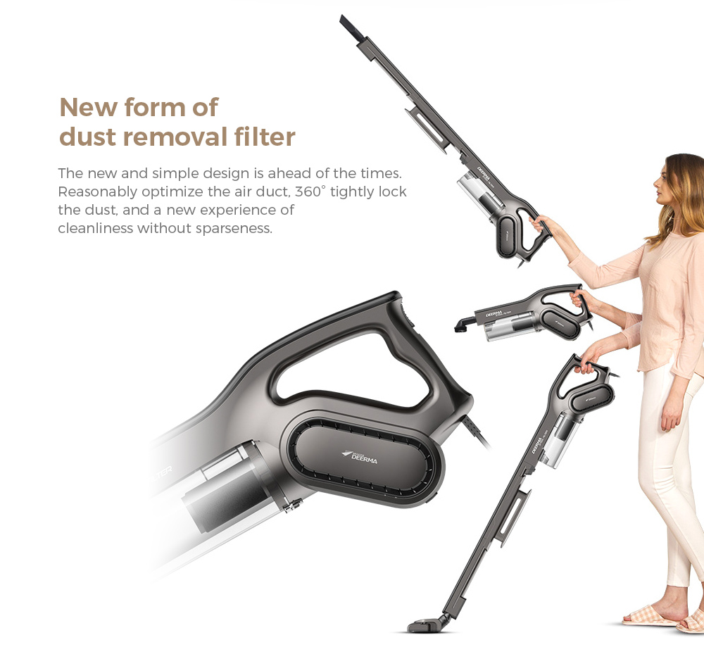 Deerma DEM-DX700S Vacuum Cleaner New form of dust removal filter