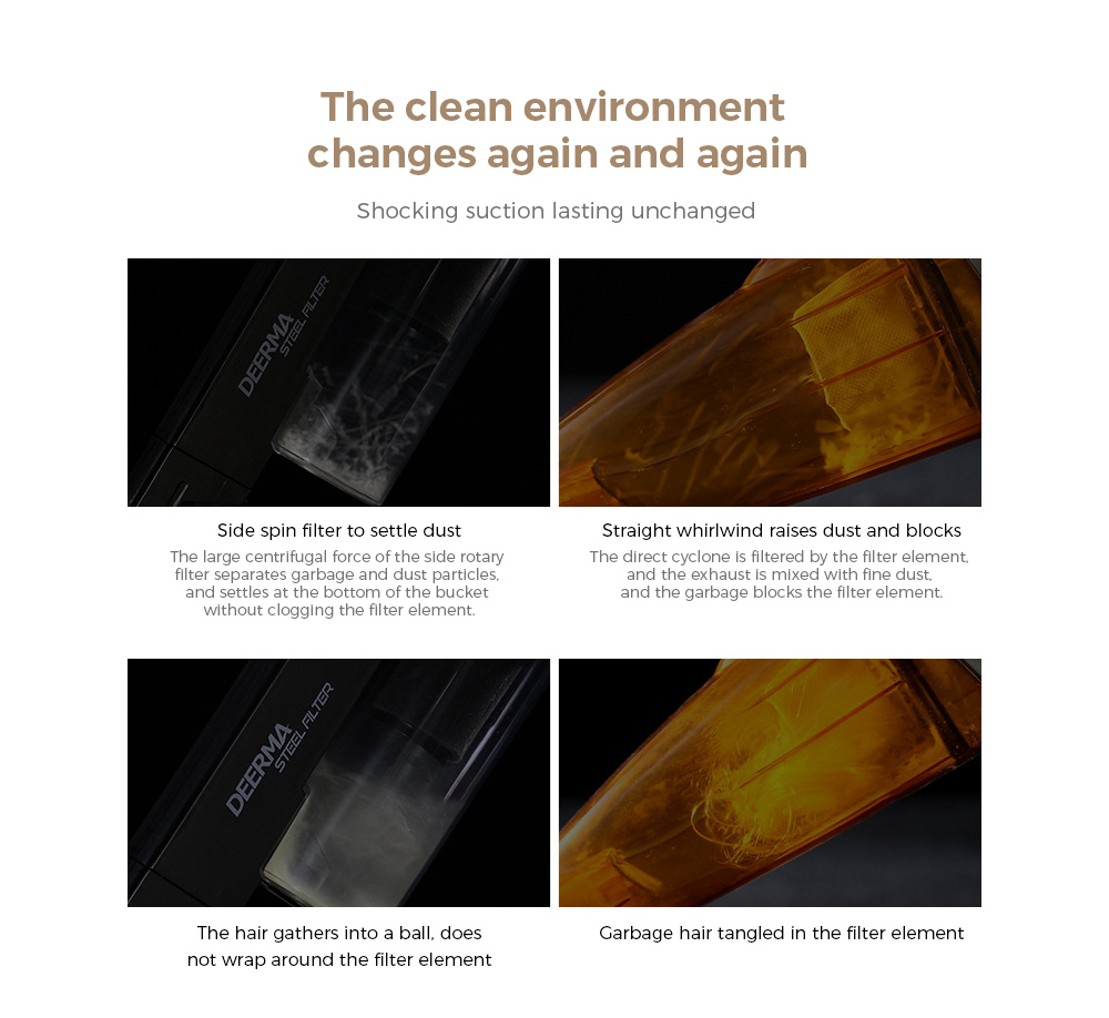 Deerma DEM-DX700S Vacuum Cleaner The clean environment changes again and again Shocking suction lasting unchanged