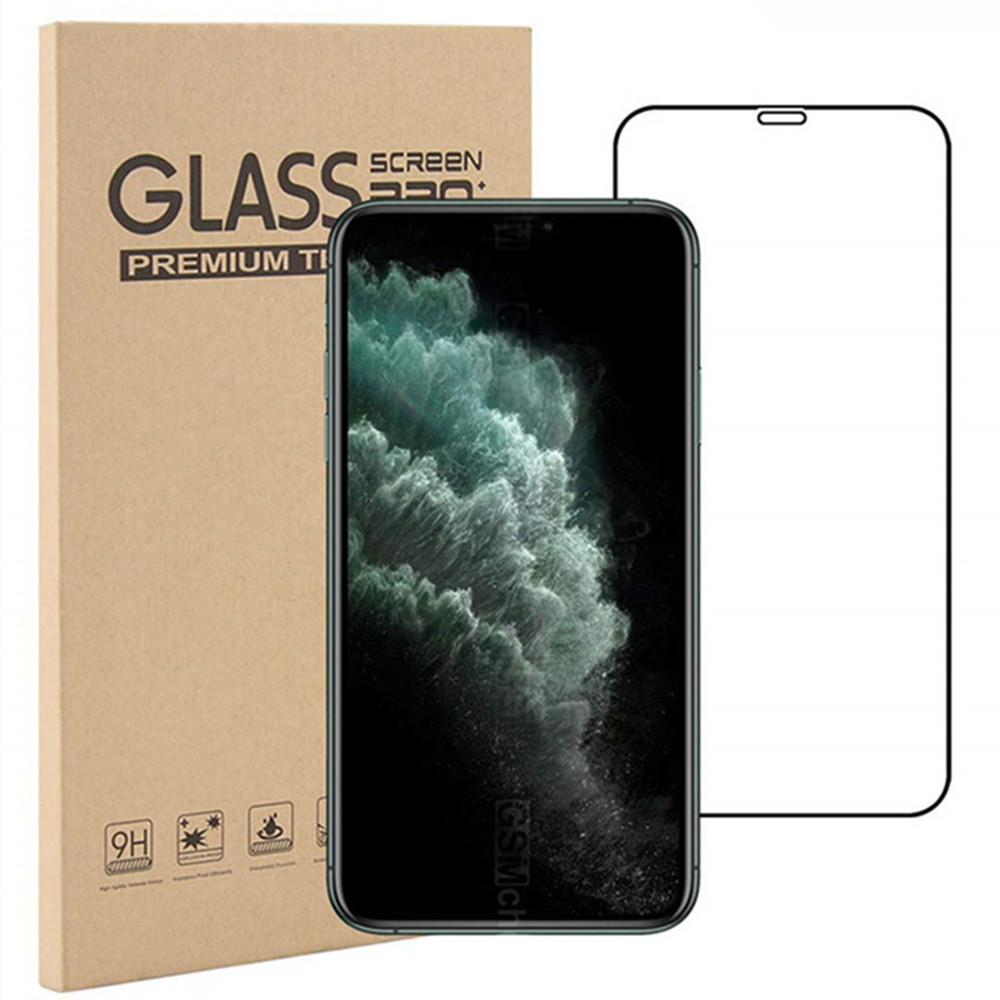 9H Tempered Glass Screen Protector for iPhone 12 Mini 12 12Pro  12Pro Max - Black 12Pro Max