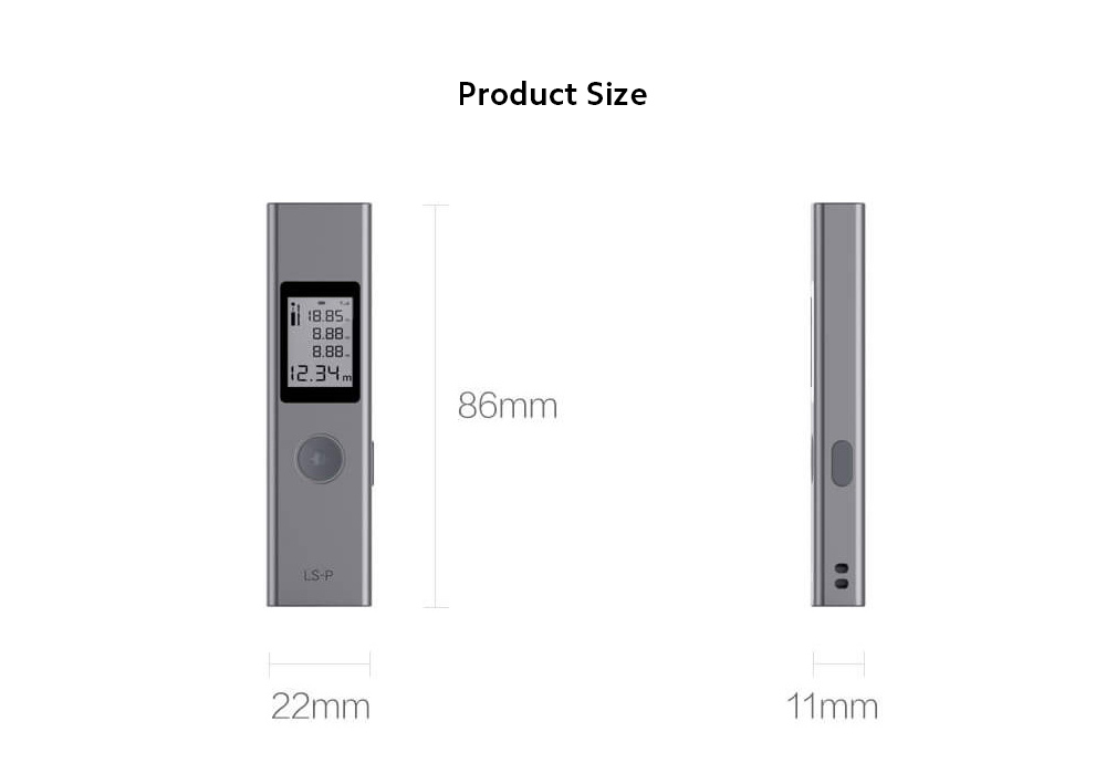 DUKA LS-P Electronic Distance Meter size