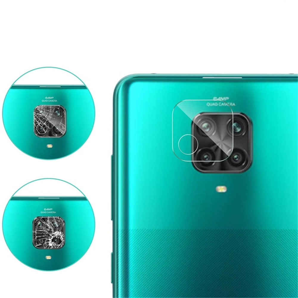 3pcs x Tempered Glass Film + Camera Protectors for Xiaomi Redmi Note 9s - Transparent