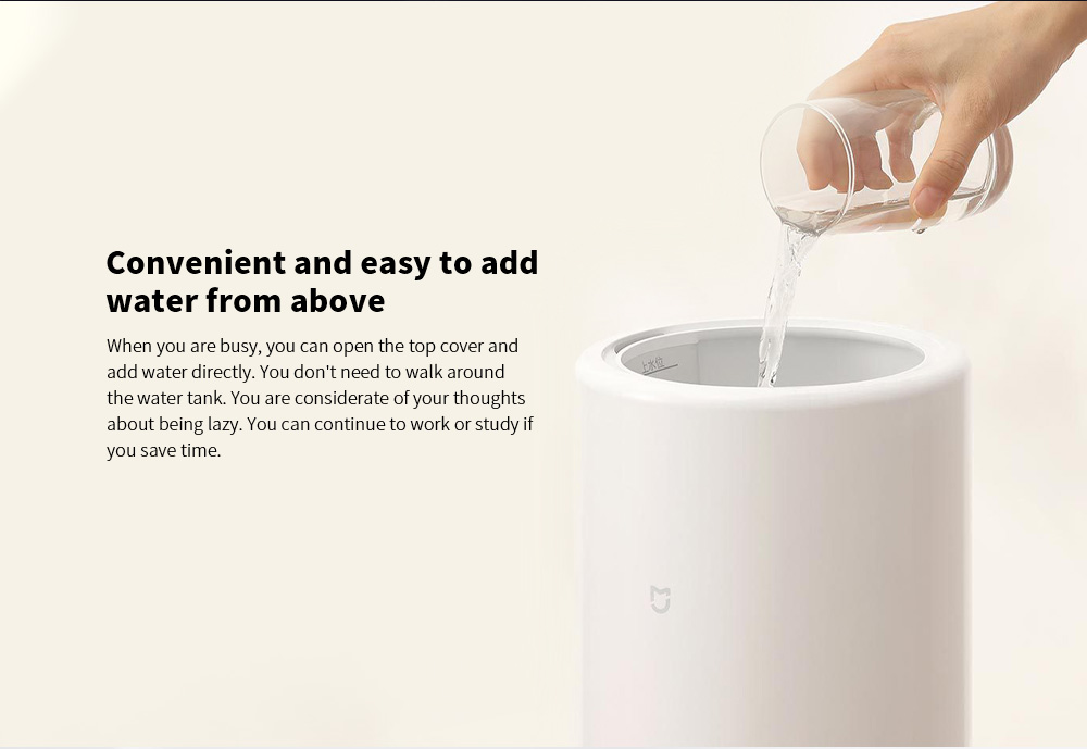 Xiaomi MJJSQ04DY Smart Humidifier Convenient and easy to add water from above