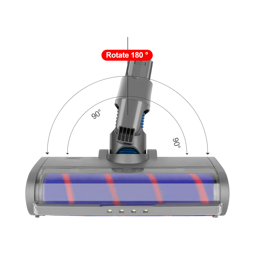 11163 Vacuum Cleaner Accessories Drum Direct Drive Floor Suction Tip for Dyson V6 DC58 59 62 - Multi