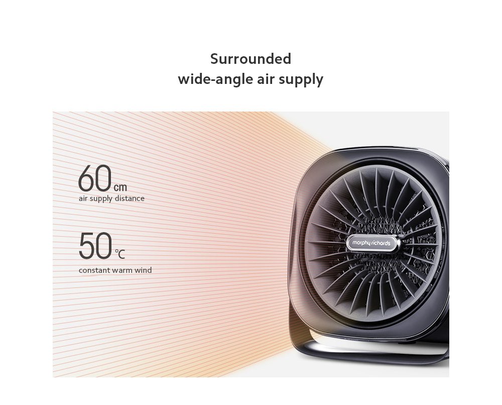 MR2020 Electric Desktop Heater Surrounded wide-angle air supply