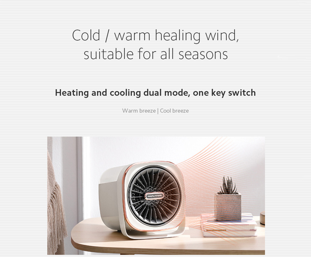 MR2020 Electric Desktop Heater Cold / warm healing wind, suitable for all seasons