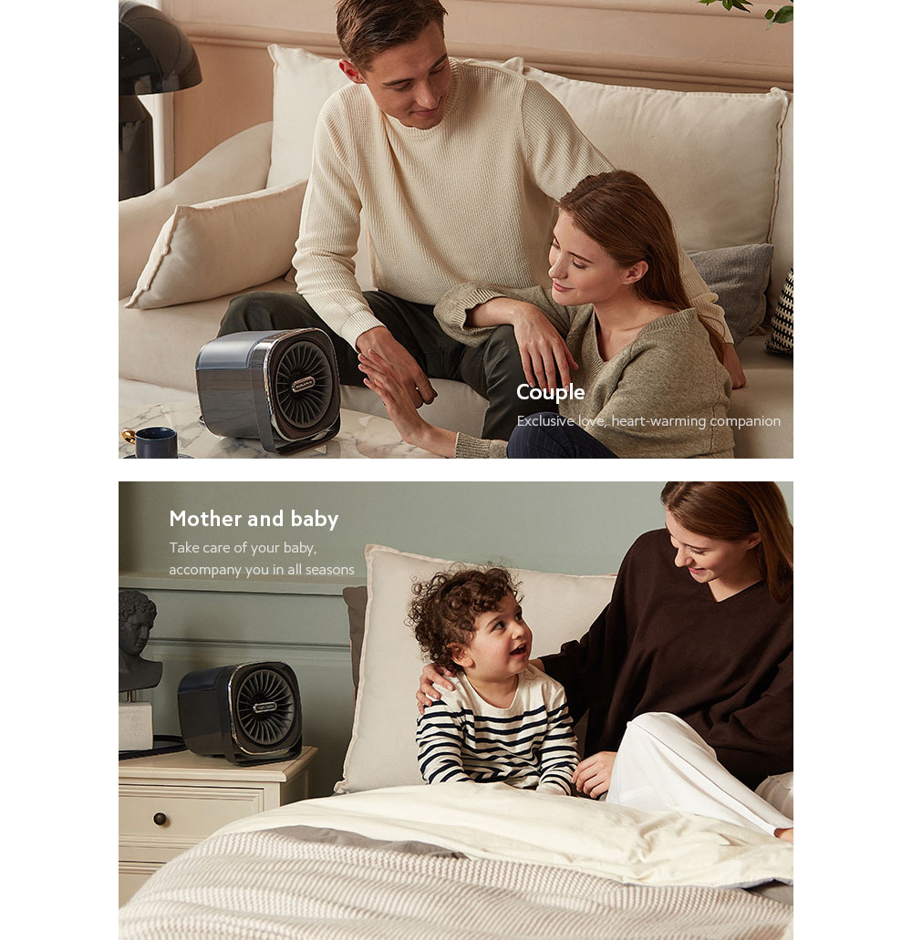 MR2020 Electric Desktop Heater Couple, Mother and baby