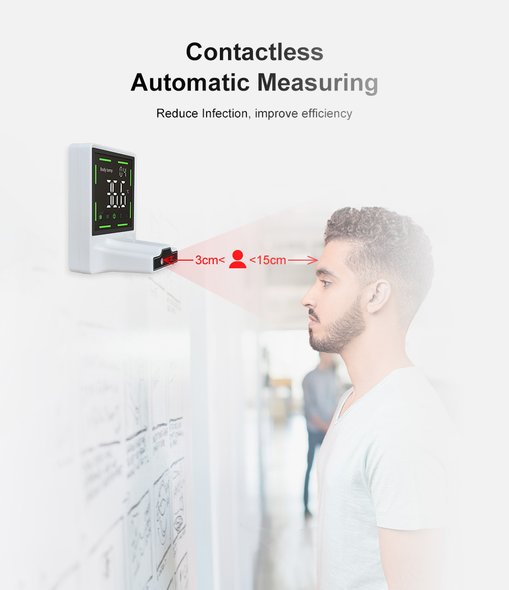 Wall-mounted Infrared Automatic Non-contact Thermometer Contactless Automatic Measuring
