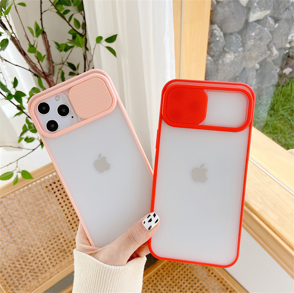Camera Lens Protection Phone Case on For iPhone 12Mini / 12 Pro  Soft Back Cover - Red 12 Mini