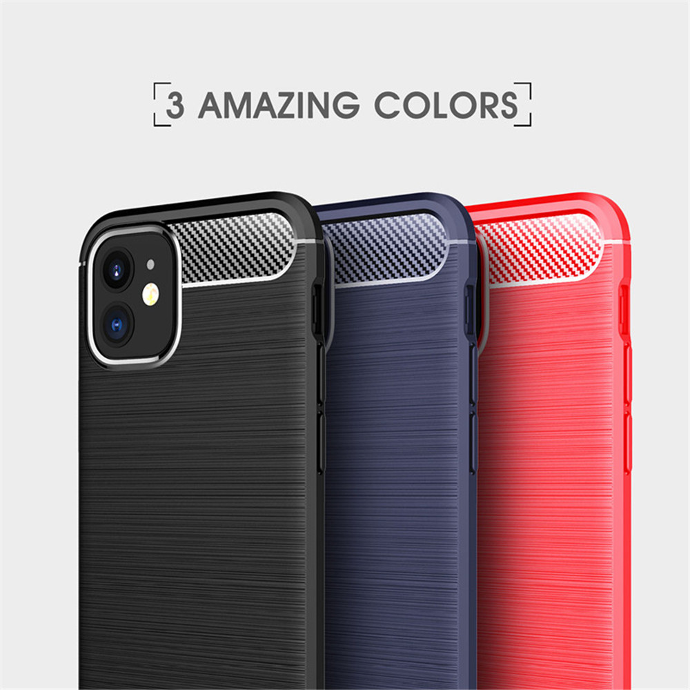 Cover Case for iPhone 12Mini / 12Pro Max  Shockproof Back Solid Color Soft TPU - Deep Blue 12