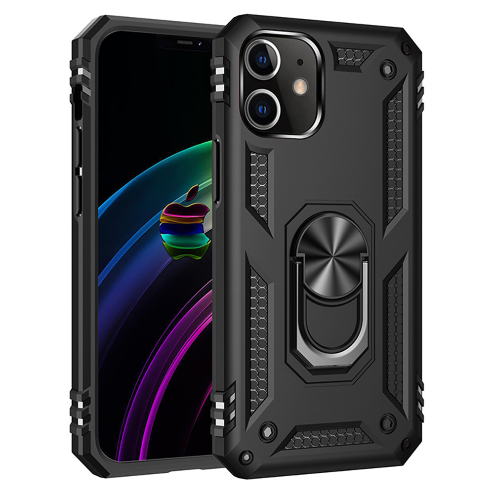 Shockproof Armor Kickstand Phone Case For iPhone 12Mini / 12 / 12Pro Max - Rose Gold 11 pro max