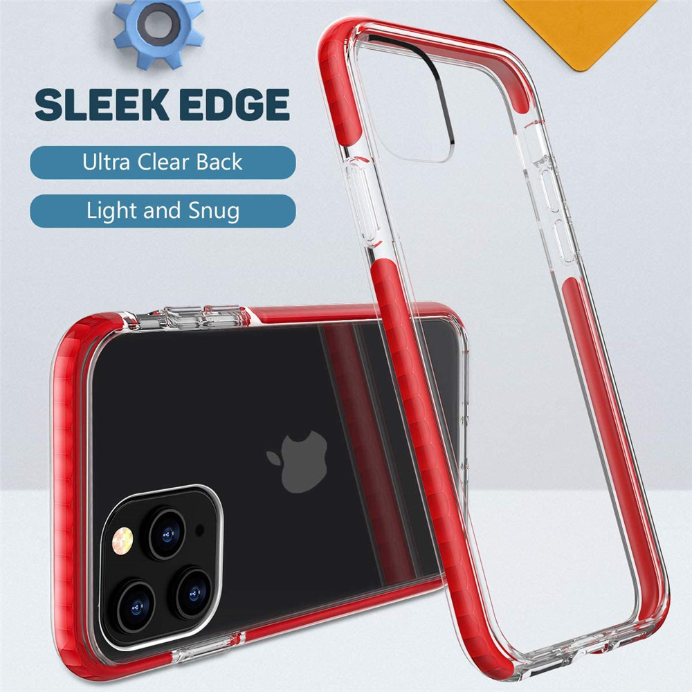 Shockproof Bumper Clear Phone Case For iPhone 12 Mini / 12 / 12Pro / 12 Pro Max - Pink 12