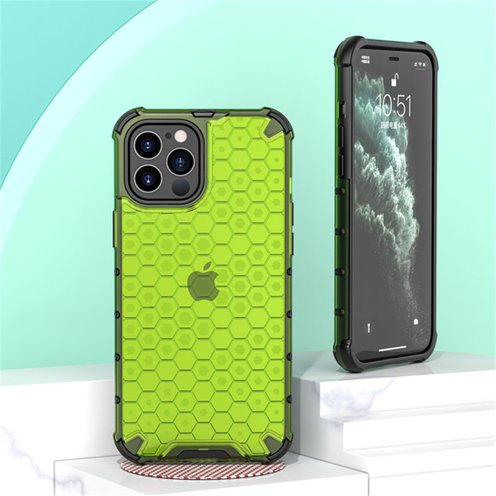 Case for iPhone  12 Mini / 12 / 12 Pro /12 Pro Max Shockproof Colored TPU And PC - Red 11 pro