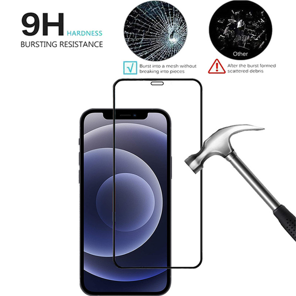 For iPhone 12 Pro  Transparent Case And Screen Protector Glass And  Camera Lens - Multi-A 12Pro Max
