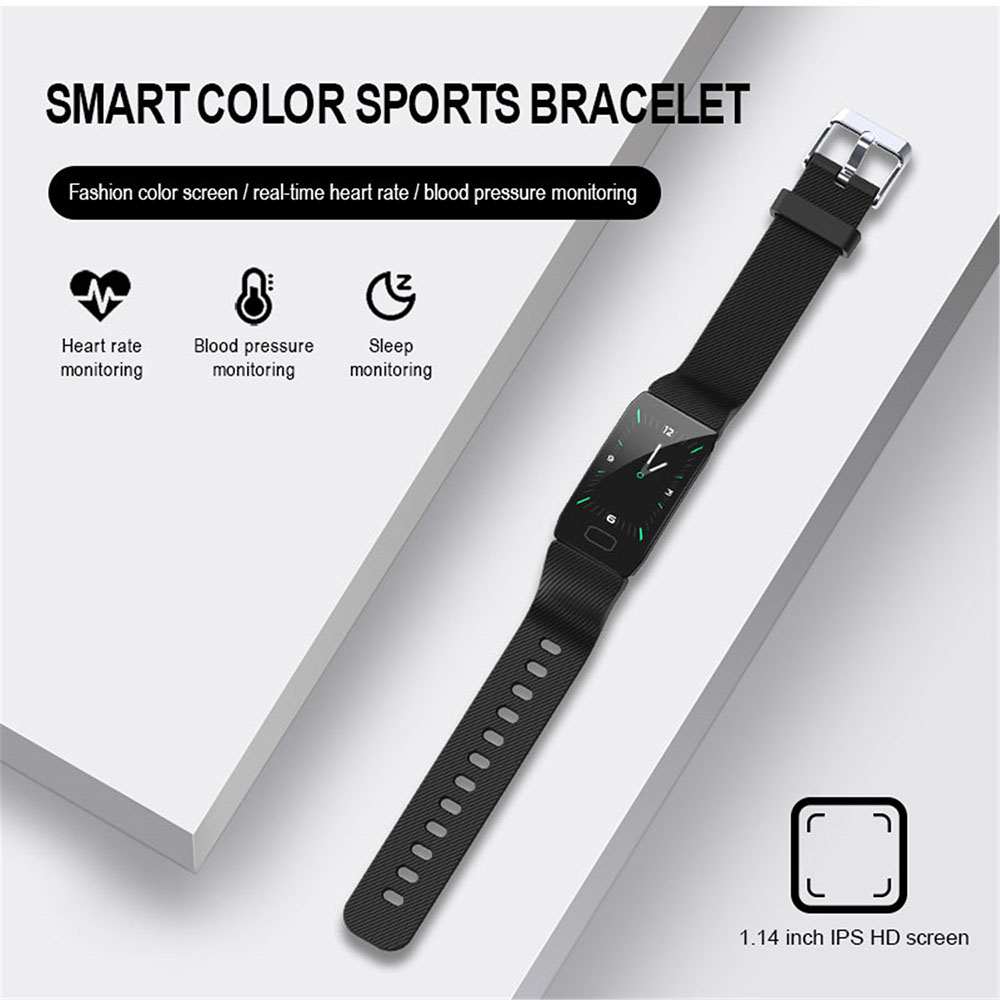 Q1 Smart Bracelet Really Heart Rate USB Direct Charge Health Bracelet Sportive - Red